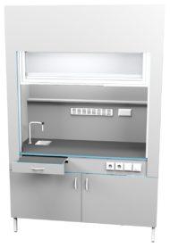 Шкаф вытяжной с сантехникой ШВ НВК 1500 ЭПОК+ (1500x716x2200)