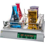 Лабораторный шейкер ПЭ-6410 многоместный с нагревом (нержавеющая сталь)